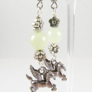 Flying horse earrings