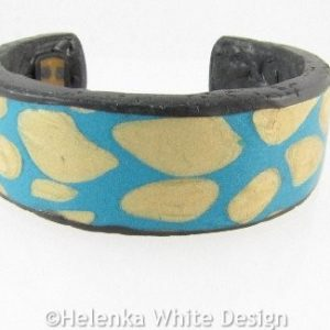 Polymer clay reptile bangle front