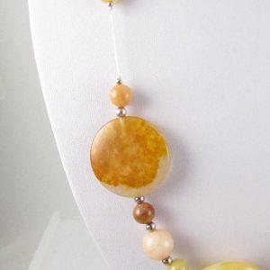 Golden Honey Jade necklace detail