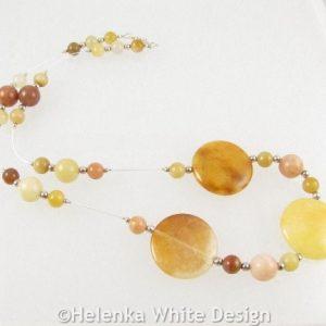 Golden Honey Jade necklace riser