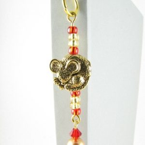 Gold mouse bookmark -detail