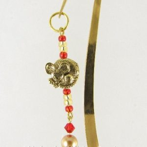 Gold mouse bookmark 2