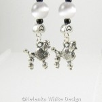 Poodle earrings -detail