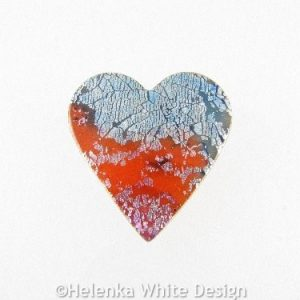 Polymer clay heart brooch 1