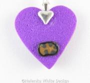 Klimt heart pendant - back