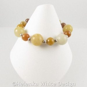 Golden Honey Jade bracelet on cone