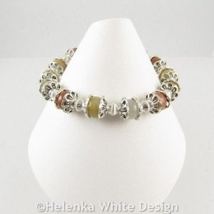 Honey Jade bracelet on cone