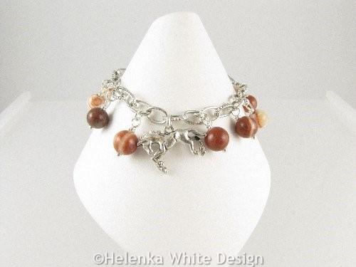Horse charm bracelet - front 2
