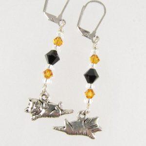 Kitten earrings - back