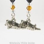Kitten earrings - detail
