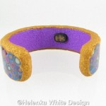 Gold and purple Klimt bangle - back