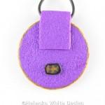 Round Klimt pendant - back