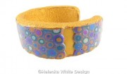 Gold Klimt bangle - side