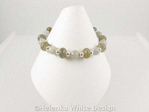 Labradorite bracelet on cone
