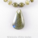 Labradorite necklace detail2