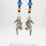 Toucan earrings - detail