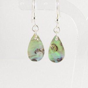 Paua Shell drop earrings 1