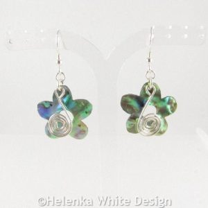 Paua Shell flower earrings 1