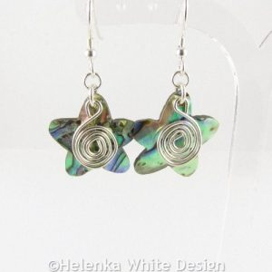 Paua Shell star earrings 1