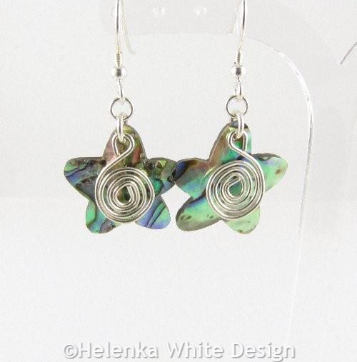 Paua Shell star earrings 1