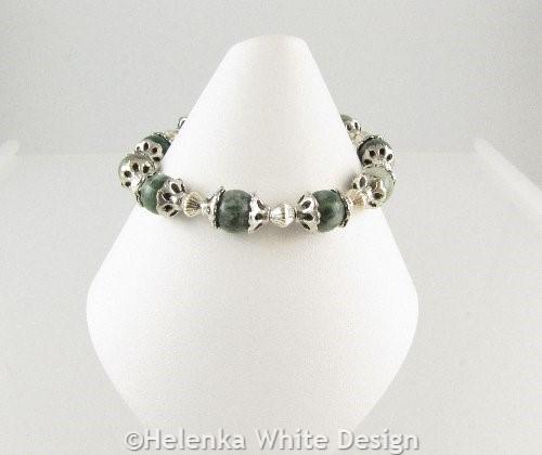 Quing Hai Jade bracelet on cone