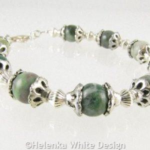 Quing Hai Jade bracelet on riser