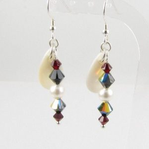 Siam -black mother-of-pearl earrings 1