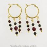 Black and siam earrings