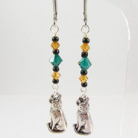 Sitting cat earrings
