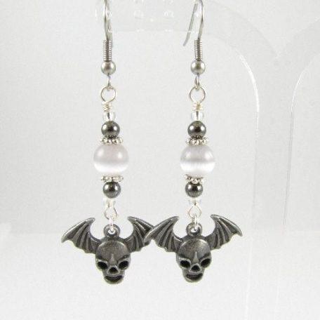 Alien skull earrings