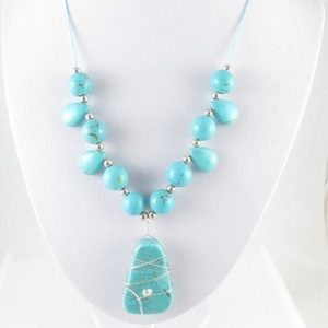 Chalk Turquoise necklace on bust