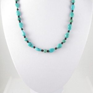 Turquoise necklace on bust