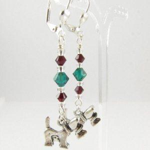 West Highland Terrier earrings 2