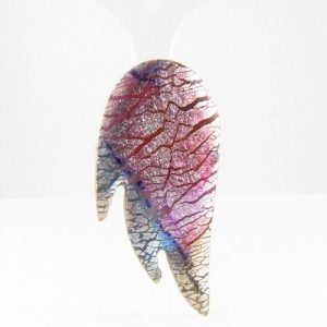 Angel wing brooch front