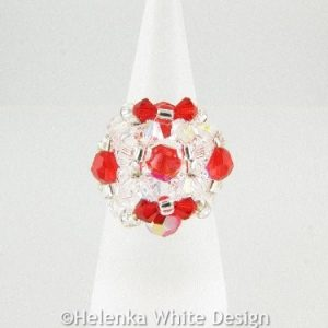 Swarovski crystal ring in red