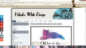 Second version of my website - Helenka White Design