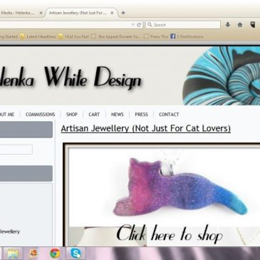 Second version of my website - Helenka White Design
