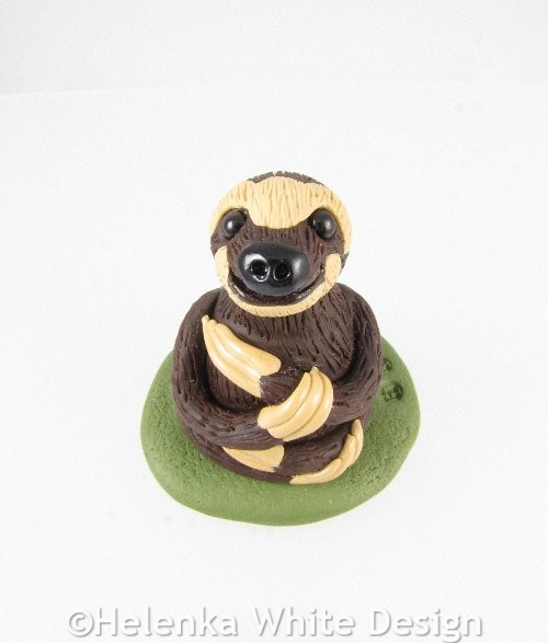 Three-toed sloth sculpture
