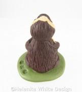 Three-toed sloth sculpture - back