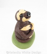 Three-toed sloth sculpture - side
