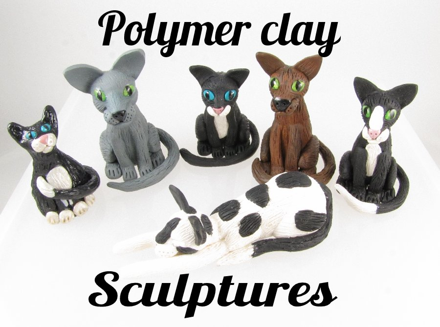 Polymer clay sculptures