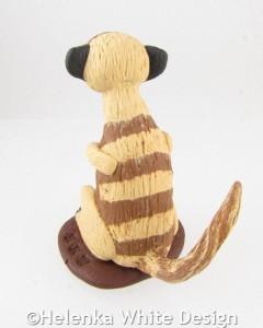 Meerkat sculpture - back
