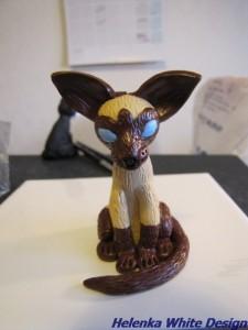 Siamese cat -sitting unbaked