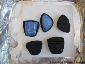 Back of pendants with the bail attached