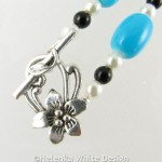 Necklace with Turquoise glass beads- detail