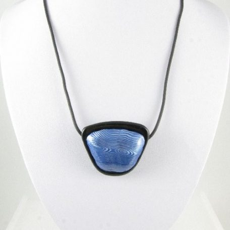 Blue and Silver Mokume Gane pendant 1