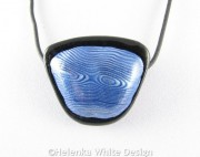 Blue and Silver Mokume Gane pendant 1 -detail