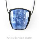 Blue and silver Mokume Gane pendant 2 - detail