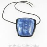 Blue and silver Mokume Gane pendant 2