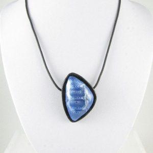 Silver & blue Mokume Gane pendant 2